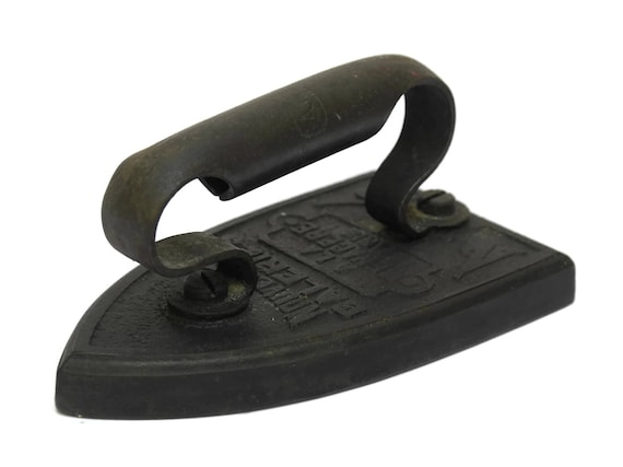 French Antique Sad Iron. French Cast Clothes Iron. Laundry Iron. Door Stop.