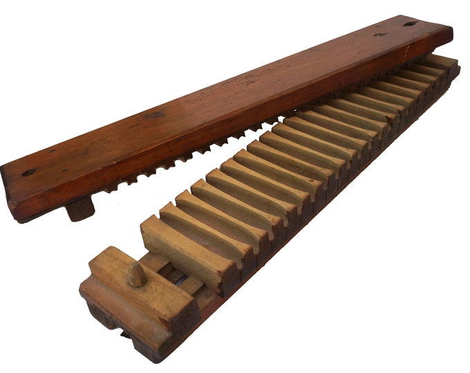 Antique German Wooden Cigar Mold Press by Reichling & Eberhard