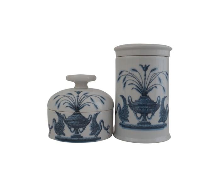 Paris Porcelain Bathroom Canister Set, Romantic French Home Decor