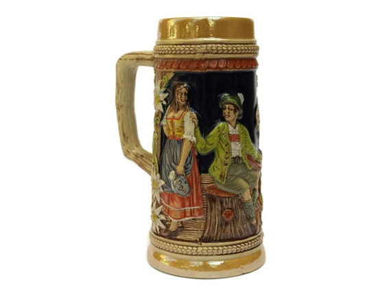 Vintage German Gerz Beer Stein.