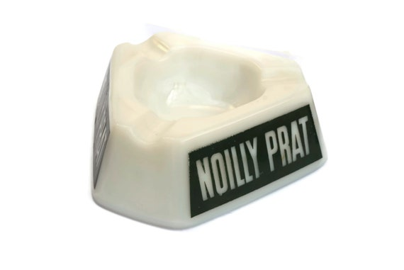 Vintage French Noilly Prat Advertising Ashtray, Opaline Triangle Coin Dish, Vermouth Lover Gift, Paris Bistro Decor