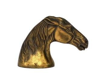 Horse Head Bottle Cap Opener, French Vintage Horsy Equestrian Bar Decor