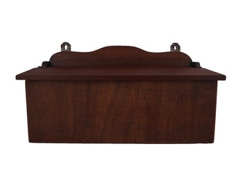 Wooden Wall Hanging Storage Box, French Kitchen Decor