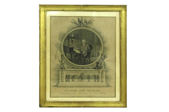 Antique French King Portrait Engraving, Louis XVIII Historical Wall Art Print
