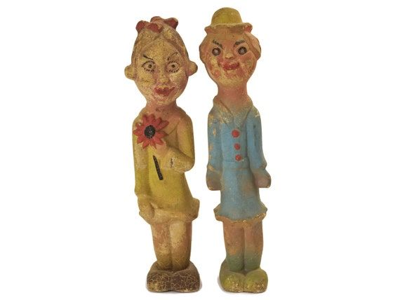 Antique Rubber Carnival Dolls
