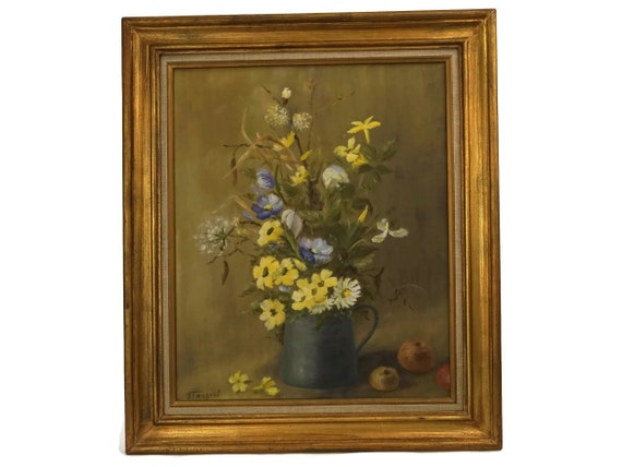 Floral Still Life Painting with Daisies