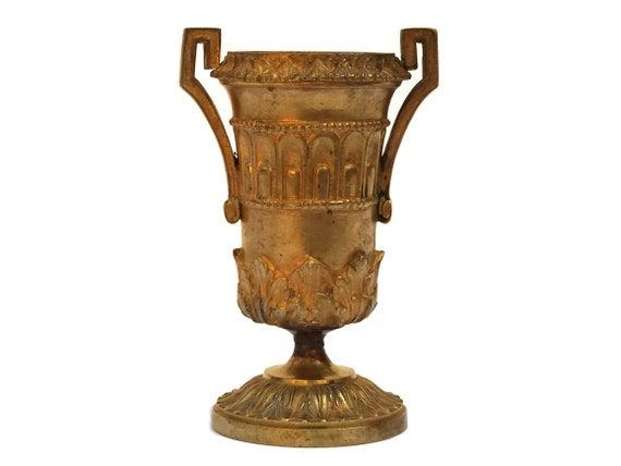 French Antique Bronze Urn Vase with Handles