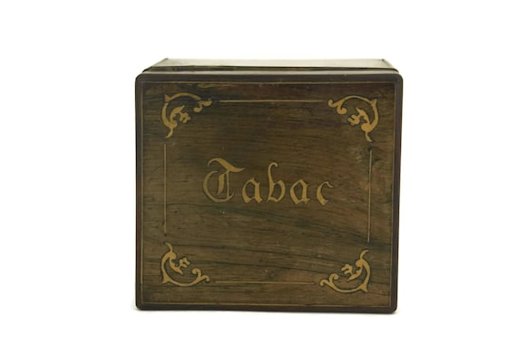 Antique French Marquetry Tobacco Box