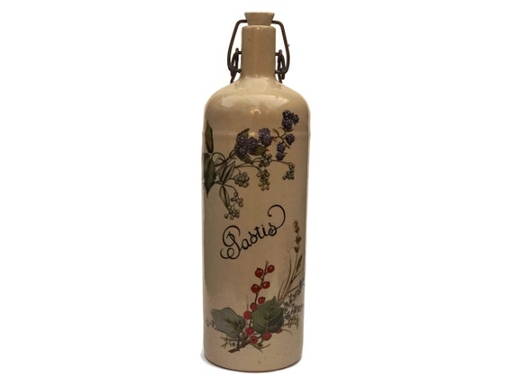 Vintage French Pastis Stoneware Bottle