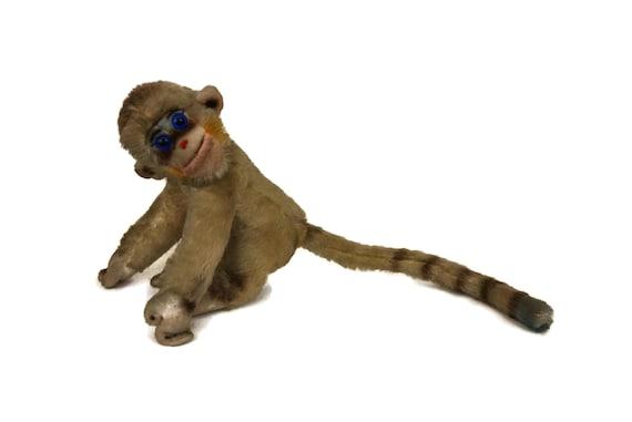 Vintage Steiff Mungo Monkey Plush, Mohair Soft Toy