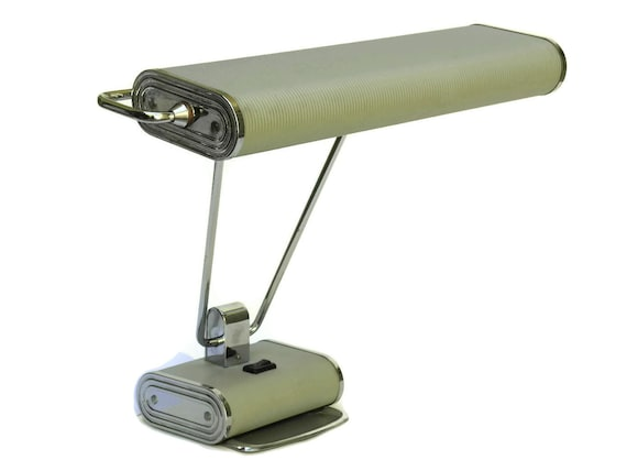 Vintage Eileen Gray Lamp, French Art Deco Adjustable Desk & Table Light by Jumo, Modernist Style Home Decor