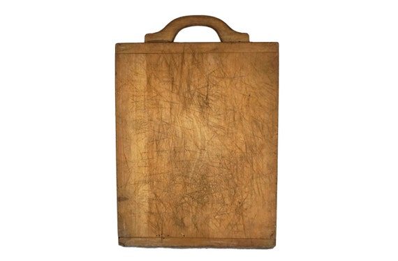 Large Antique Wood Cutting Board, Rustic French Chopping Board, Country Kitchen Decor