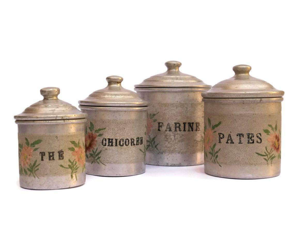 Schäbigen französischen Vorratsdosen. Vintage | Etsy