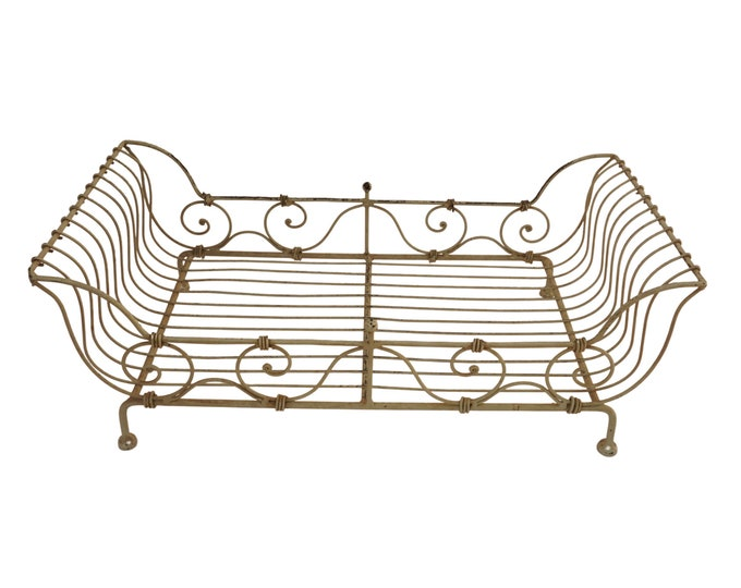 French Wrought Iron Pet Bed, Small Dog and Cat Basket