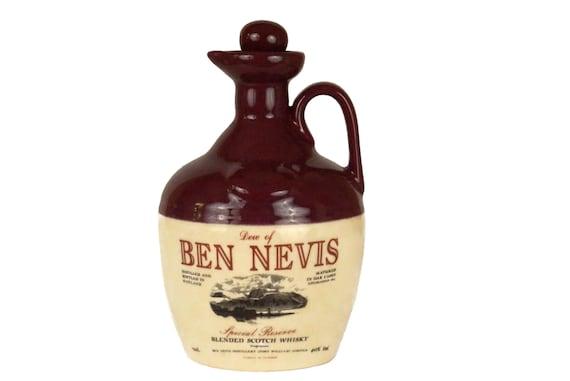 Ben Nevis Scotch Whisky Decanter, Stoneware Whiskey Jug
