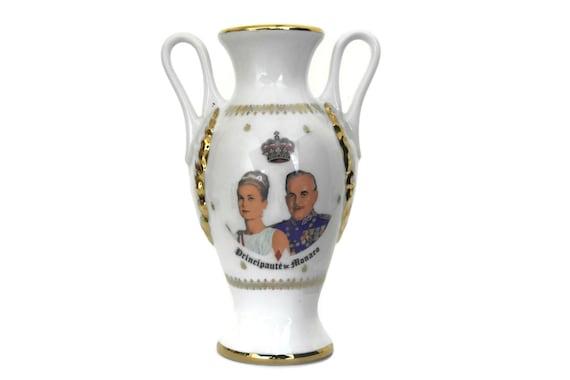 Princess Grace Kelly of Monaco Souvenir Vase,