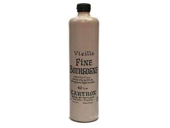 Vintage French Stoneware Liquor Bottle