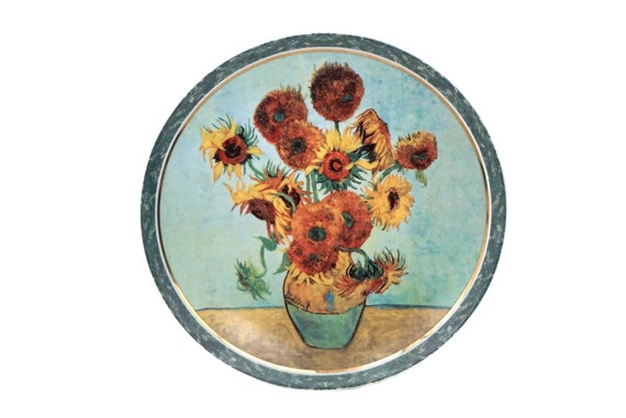Van Gogh Sunflowers Art Wall Plate by Goebel Artis Orbis, Collectible China