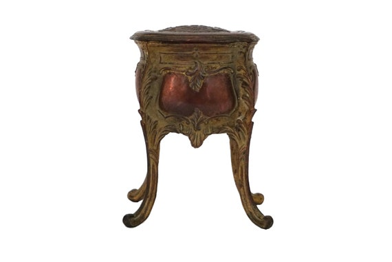 Antique Art Nouveau Jewelry Box, French Jewellery Casket