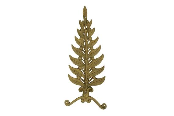 Laurel Leaf Bronze Furniture Ornament, Antique French Hardware Molding