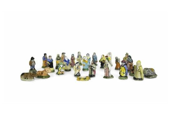French Feves Christmas Nativity Set