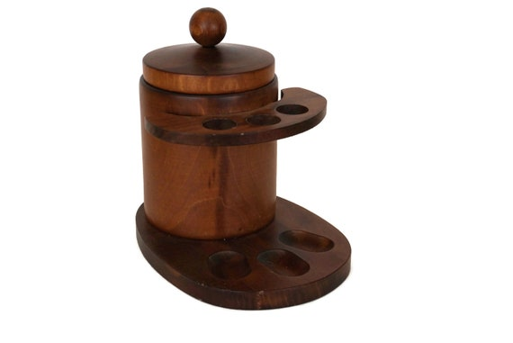 Wood Pipe Stand and Tobacco Humidor