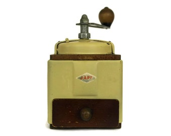 French Vintage Japy Coffee Grinder. Industrial Kitchen Decor. Coffee Mill.