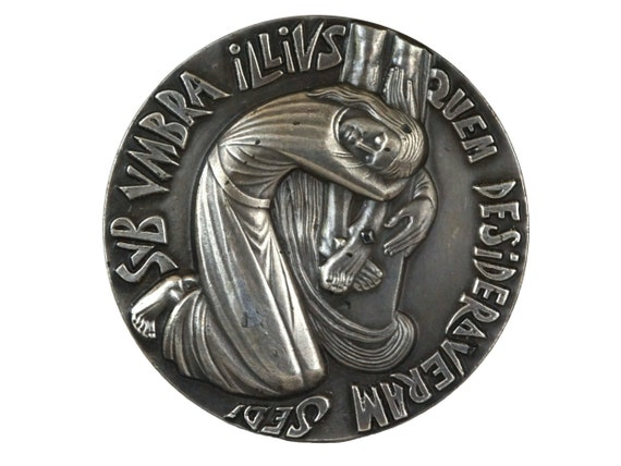 Saint Mary Magdalene Bronze Medal, Christian Gifts and Religious Decor