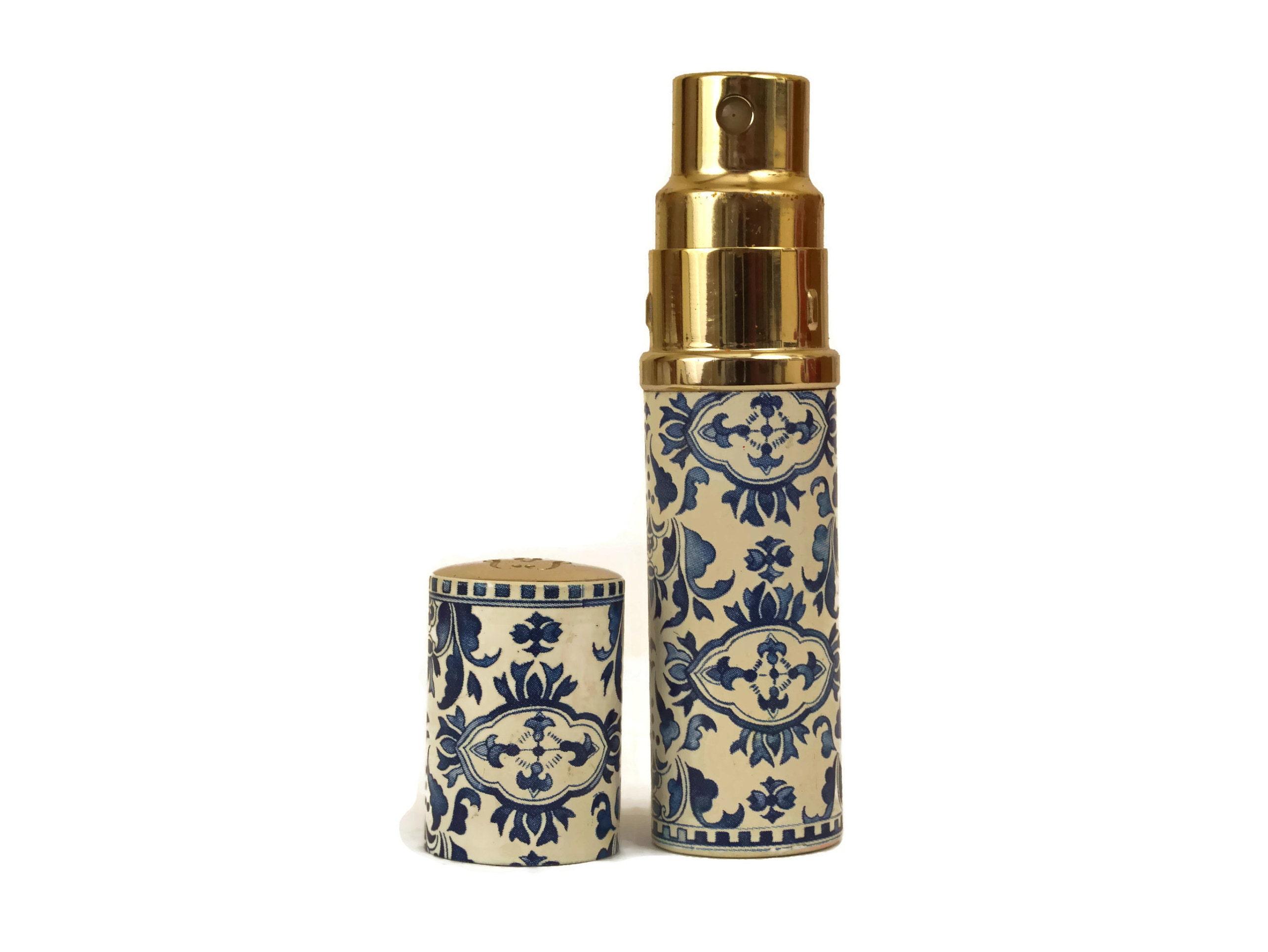 Vintage Guerlain Lheure Bleue Perfume Refillable Canister Case