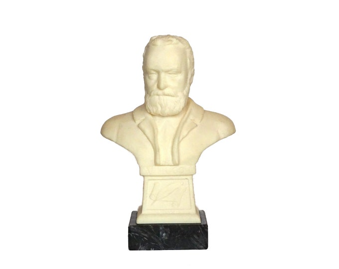 Victor Hugo Portrait Head Bust Statue, French Literature Lover Gift