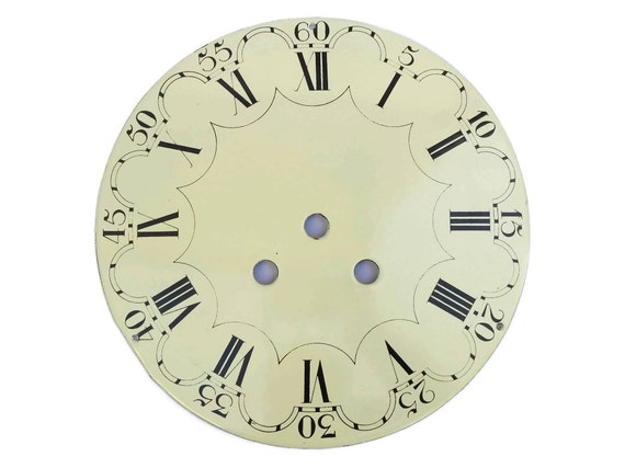 Old French Enamel Clock Dial.