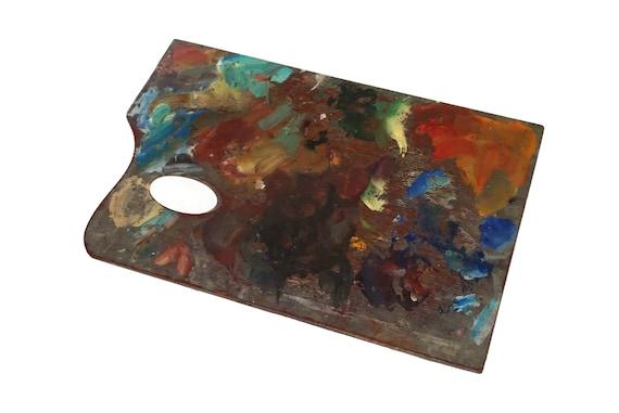 Vintage French Artist Painting Palette, Painters Art Studio Decor