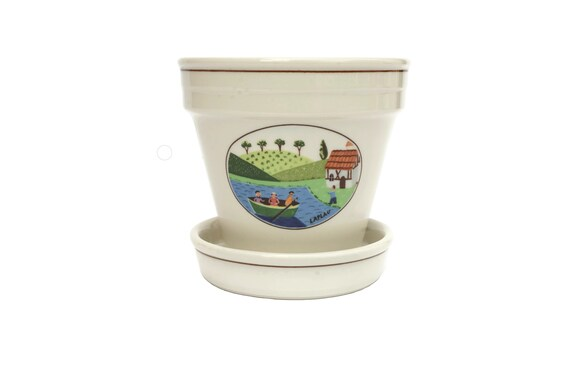Villeroy and Boch Naif Laplau Flower and Herb Pot, Ceramic Kitchen Plant Planter