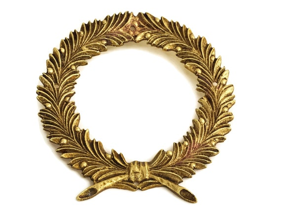 Antique Laurel Leaf Wreath Ormolu Furniture Molding