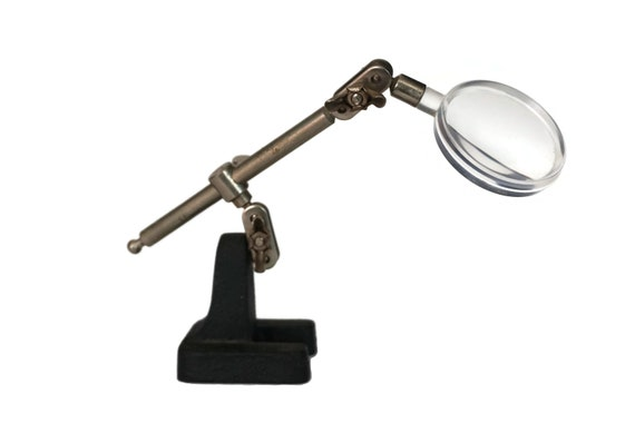 Desktop Magnifying Glass with Adjustable Stand