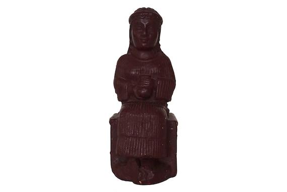Woman with Aryballos Reproduction Statue, Vintage Louvre Museum Souvenir, Mesopotamian Neo Sumerian Art