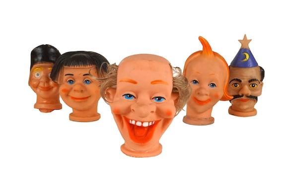 Clown Head Toy Hand Puppet Set