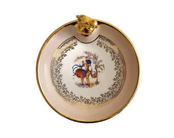 Limoges Porcelain Baby Feeding Dish with Boy an Girl