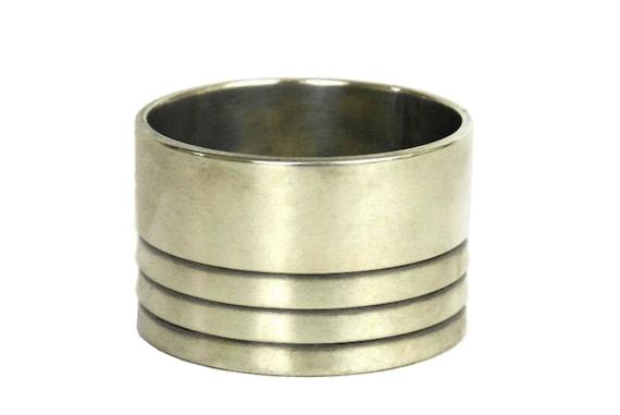 Vintage Christofle Silver Napkin Ring, French Serviette Holder