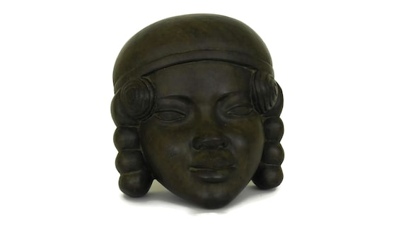 Malagasy Carved Wood Lady Face Mask