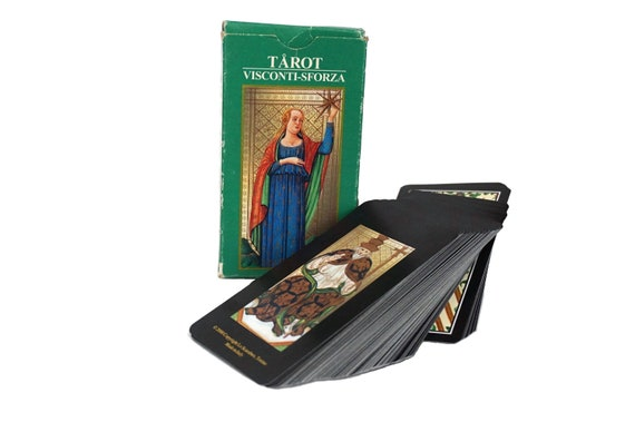 Visconti Sforza Tarot Card Deck, Vintage Fortune Telling and Divination Gifts
