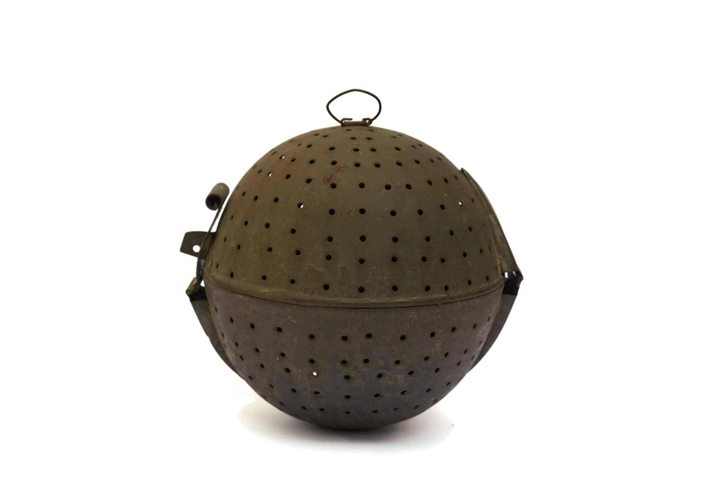 French Antique Rice Boiler Cooking Ball Metal Tea Leaves