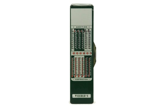 Vintage Piccolo-S mechanical Addiator. Pocket Manual Calculator. Collector Adding Machine. Gift for Geek. Made in West Germany.