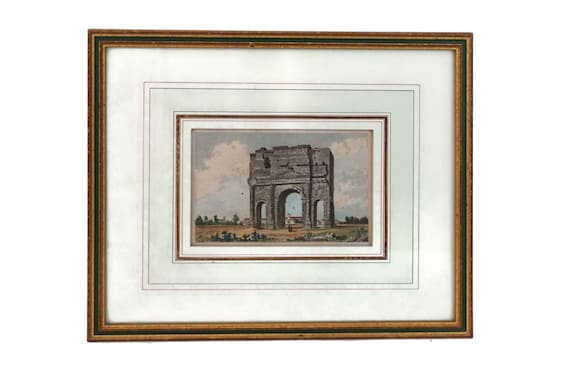 Triumphal Arch Art Print, Antique Roman Architecture Engraving