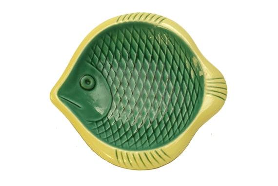 1950s Ceramic Fish Coin Dish,  Mid Century Modern by Verceram