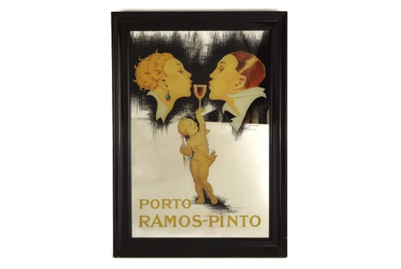 Vintage Porto Ramos Pinto Advertising Bar Mirror