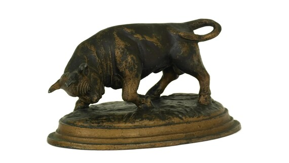 French Vintage Bull Figurine Paperweight