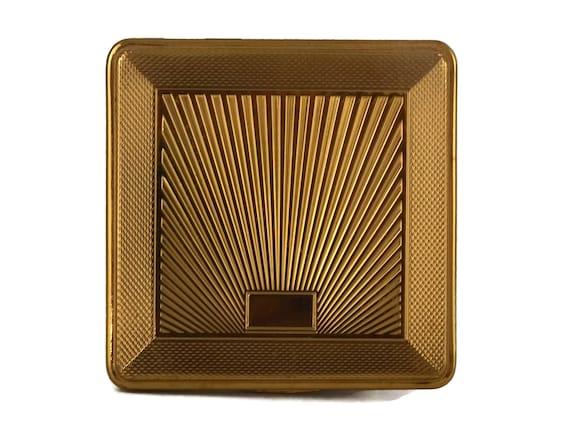 Vintage Kigu Vanity Powder Compact, Art Deco Makeup Mirror Case, 1950's Fashion and Purse Accessory