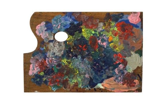 French Artist Painting Palette, Vintage Painters Art Studio Decor