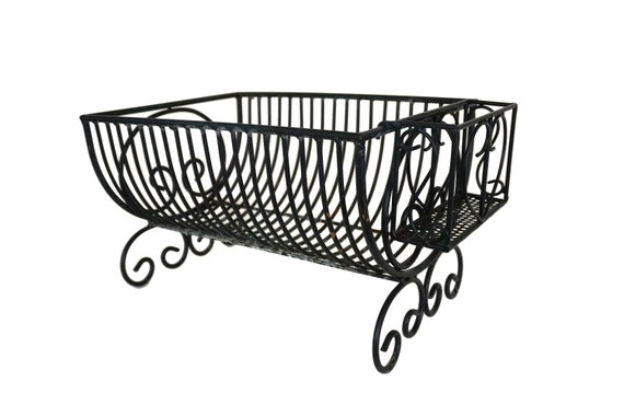 Vintage French Wire Dish Drainer and Cutlery Holder, Plate Draining Rack, Rustic Country Kitchen Decor